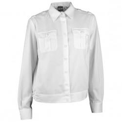 Купить Рубашка форменная женская, длинный рукав, белая, Компания «Сплав»