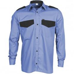 Рубашка Охранник, длинный рукав, голубая