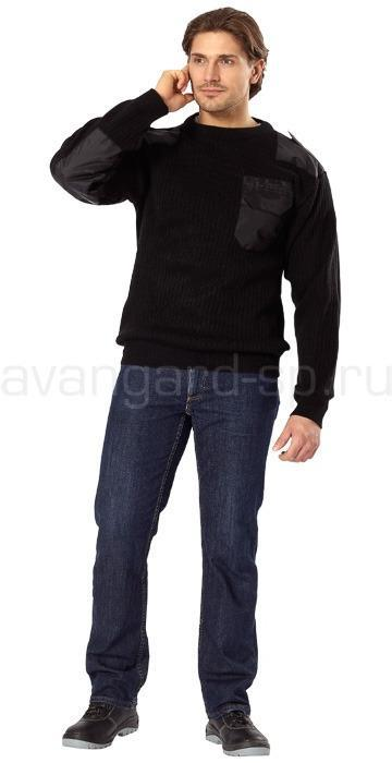 Джемпер офицерский черный