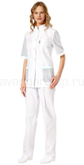 Комплект одежды медицинской женской Премиум(блуза и брюки), Медицинские костюмы - арт. 459220249