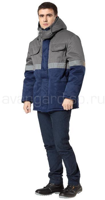 Куртка Орион утепленная (т.син.+сер.)