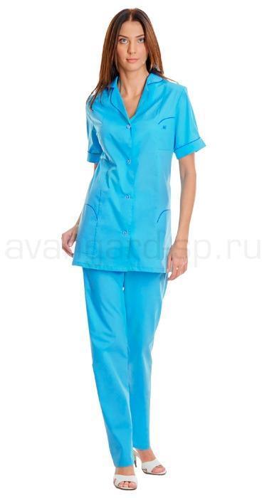 Комплект одежды медицинской женской Фея(блуза и брюки), Медицинские костюмы - арт. 459950249