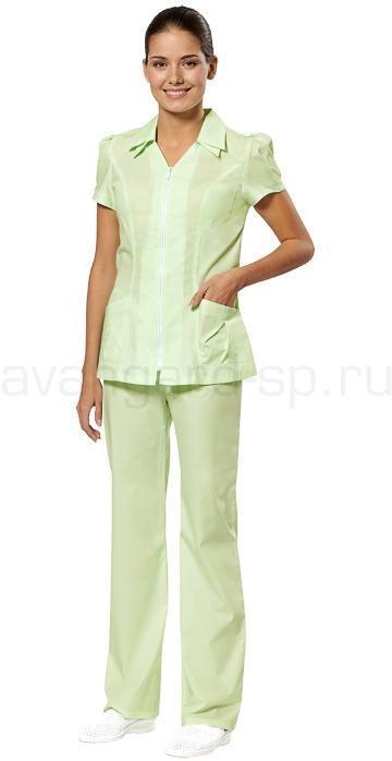 Комплект одежды медицинской женской Виста(блуза и брюки), Медицинские костюмы - арт. 460870249