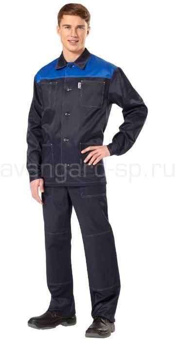 Купить Костюм Аскет (темно-синий+васильковый), Авангард-спецодежда