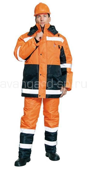 Костюм Метеор, ткань оксфорд оранж+черн. РАСПРОДАЖА