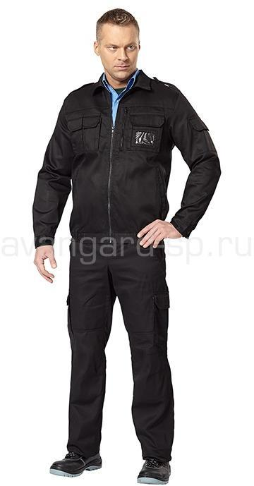 Костюм Витязь летний цвет черный (ткань смесовая) NEW - артикул: 462990248