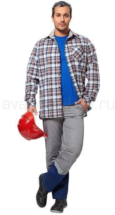 Рубашка мужская Вестерн лайт (ткань клетка) РАСПРОДАЖА