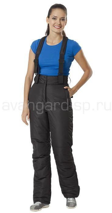 Брюки утепленные женские Соло цвет черный, Зимние брюки и полукомбинезоны - арт. 464090348