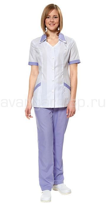 Комплект одежды женской, Мираж (блуза и брюки), Медицинские костюмы - арт. 465900249
