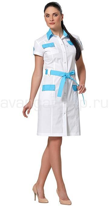 Платье женское LL4102 (бел+гол), Юбки и платья - арт. 465630153