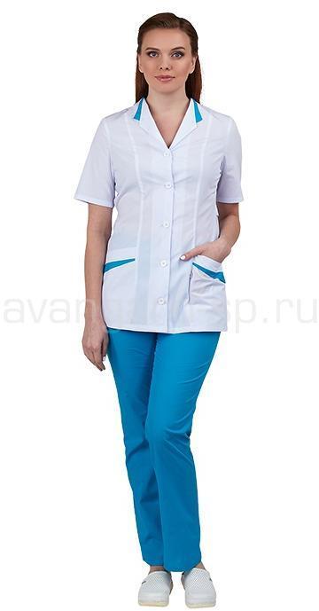 Комплект одежды медицинской женской Лиза (блуза и брюки), Медицинские костюмы - арт. 496980249