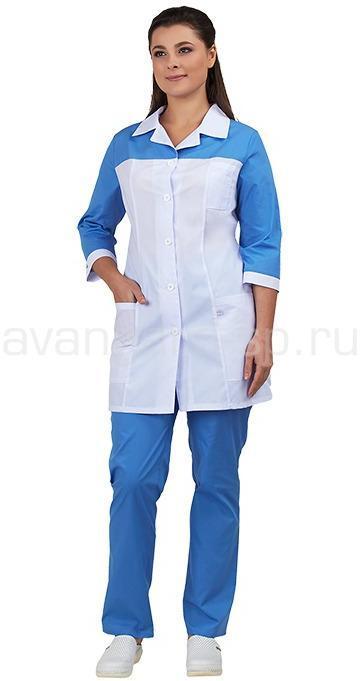 Комплект одежды медицинской женской Дельта (блуза и брюки), Медицинские костюмы - арт. 466530249