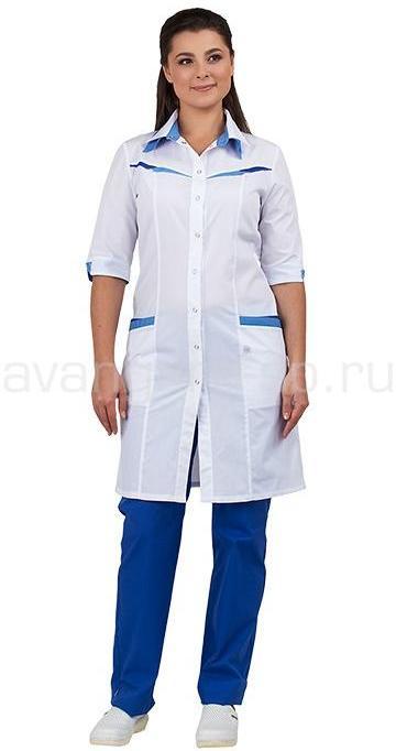 Халат медицинский женский Аврора - артикул: 496990303
