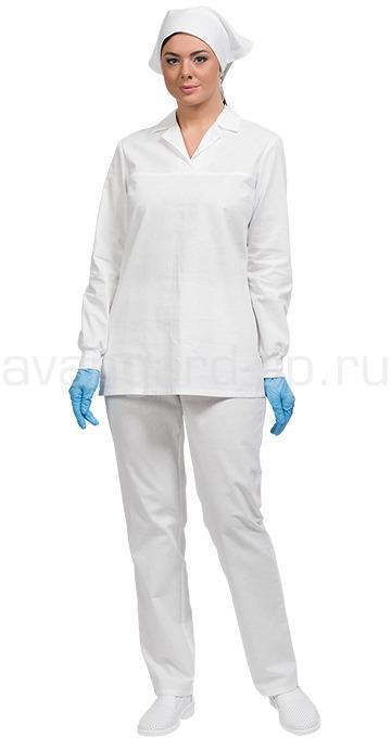 Костюм Бейкер с длинным рукавом женский цвет бел.