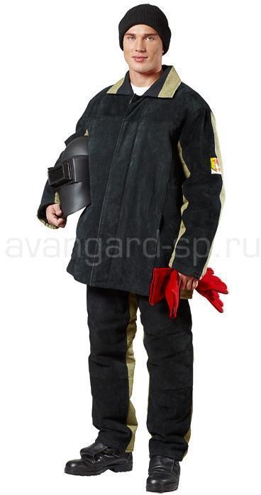 Костюм сварщика тип В утепленный (брезент+спилок) - артикул: 457360246