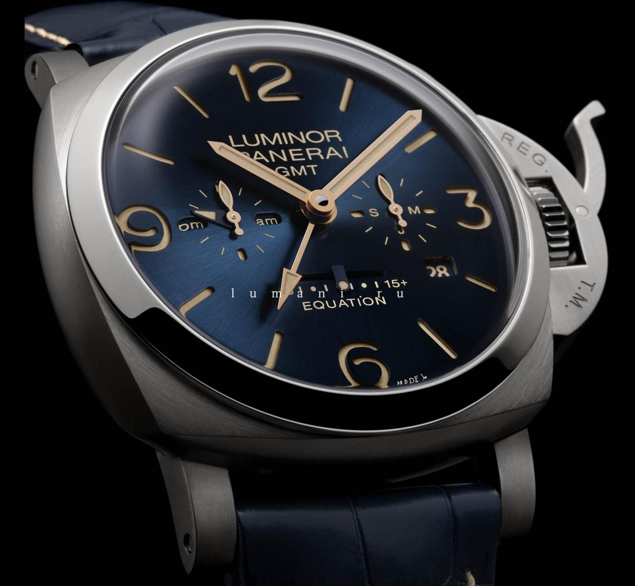 Panerai Luminor 1950 Equation Of Time 8 Days GMT Titanio PAM00670