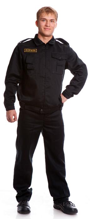 Костюм ЩИТ (куртка+брюки), ткань смесовая, цвет черный, Куртки - арт. 1109810156