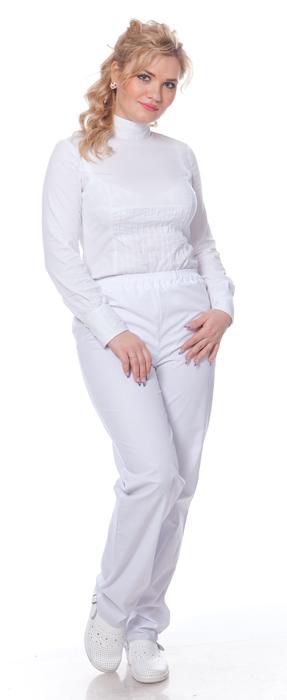Купить Брюки женские, ткань Смесовая, цвет белый, Энергия спецодежда