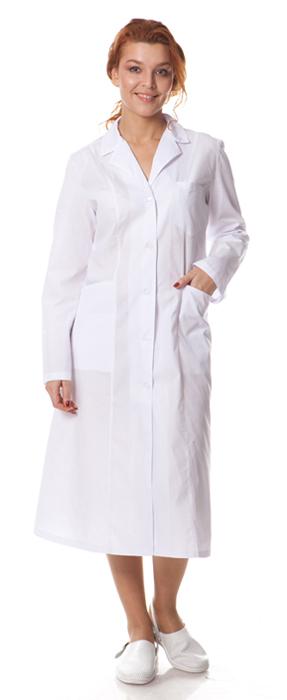 Купить Халат женский классический, ткань смесовая, цвет белый, Энергия спецодежда