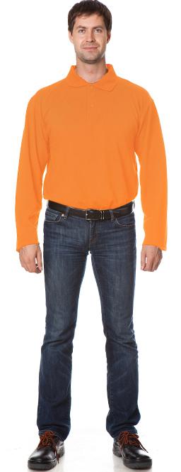 Рубашка Поло с длинным рукавом цвет Оранжевый, Рубашки - арт. 1111080163