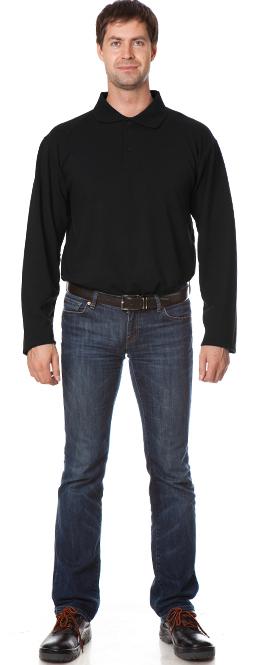 Рубашка Поло с длинным рукавом цвет Черный, Рубашки - арт. 1111110163