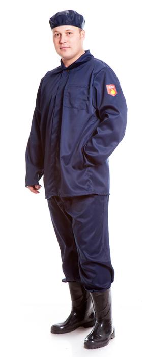 Костюм КЩС (куртка+брюки), ткань полиэфир, цвет т.синий, Куртки - арт. 1071410156