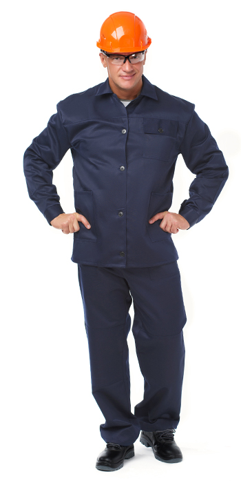 Костюм БЛАР (курт.+бр.), ткань Хлопок, цвет т.синий, Рабочие костюмы - арт. 1108530257