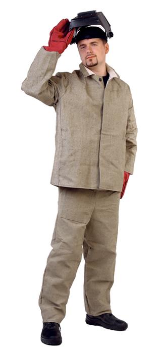 Костюм сварщика брезентовый с накладками (брезент-550г/м2), Костюмы - арт. 1109750127