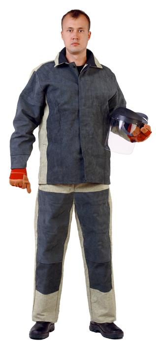 Костюм сварщика со спилком,тк.брезент 550 г/м2,цв.хаки, Костюмы - арт. 1109760127