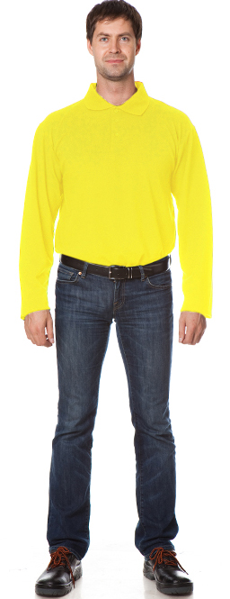 Рубашка Поло с длинным рукавом цвет Желтый, Рубашки - арт. 1111060163