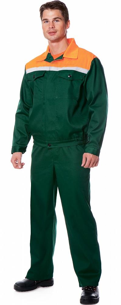 Костюм СТАФФ (курт.+п.комб.), ткань Смесовая, цвет зел.-оранж., Рабочие костюмы - арт. 1107920257