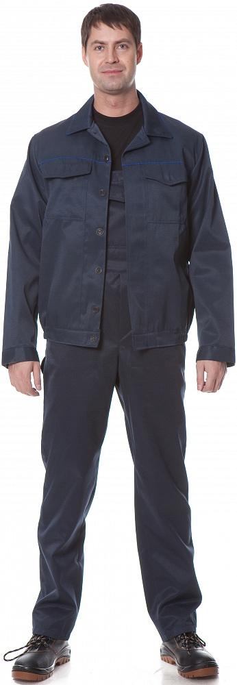 Костюм УНИВЕРСАЛ2 (курт.+п.комб.), ткань Смесовая, цвет т.син.-василек, Рабочие костюмы - арт. 1108610257