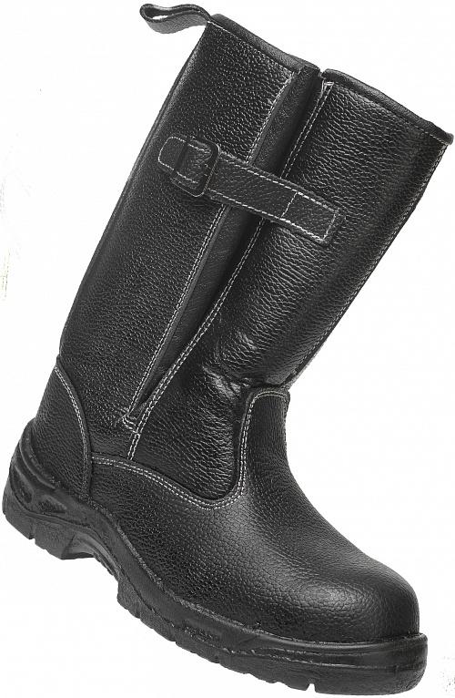 Сапоги кожаные с металлическим подноском Бонго, Сапоги - арт. 1111370175