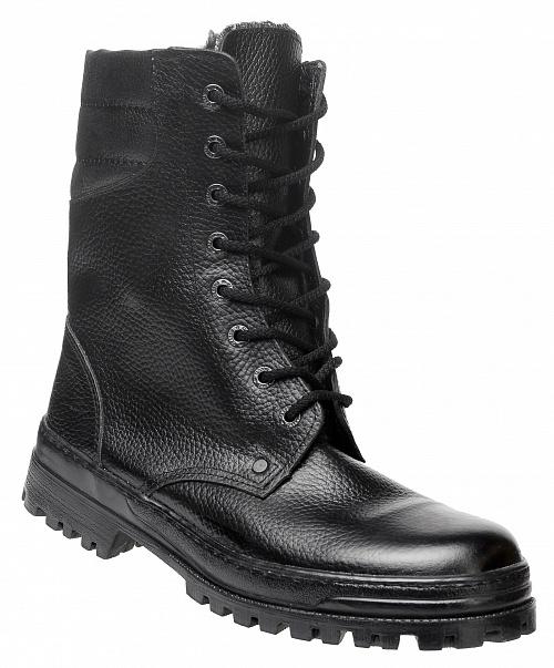 Ботинки кожаные утепленные искусственный мех с высокими берцами Омон, Ботинки - арт. 1109210177