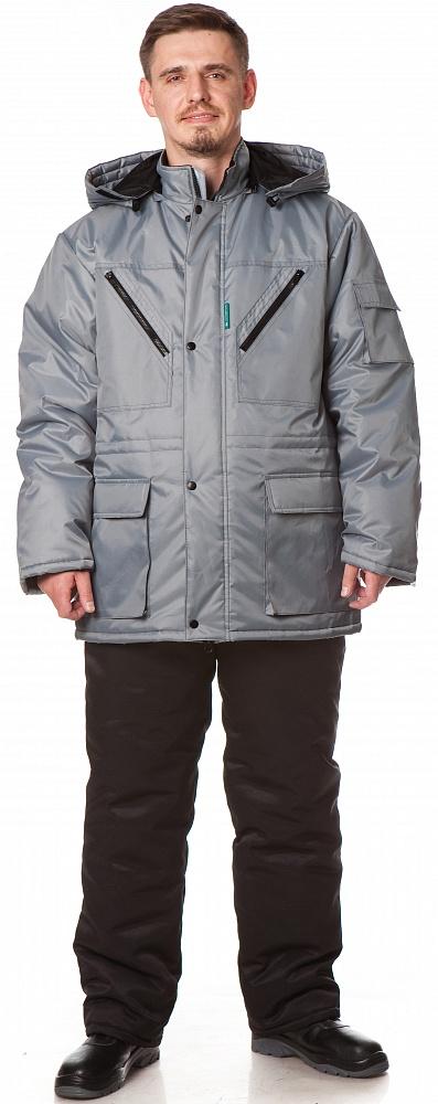 Куртка БАРГУЗИН утепленная, ткань Таслан, цвет св.серый, Куртки - арт. 1108290156