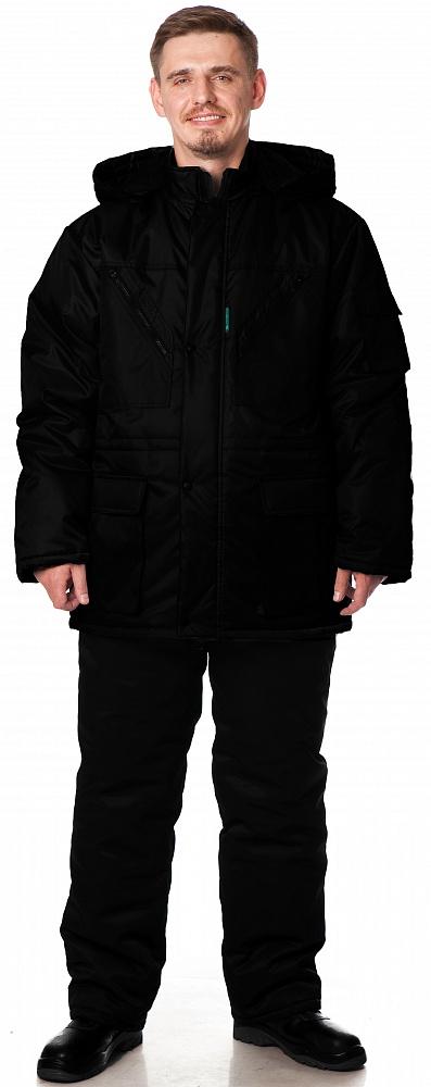 Куртка БАРГУЗИН утепленная, ткань Таслан, цвет черный, Куртки - арт. 1108300156