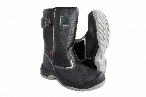 Сапоги кожаные ПУ+ТПУ, утепленные, с металлическим подноском, Сапоги - арт. 1108130175