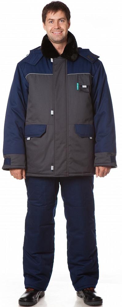 Костюм утепленный Арктика (куртка+полукомбинезон) цвет Синий-т.серый, Зимние костюмы - арт. 1108270258