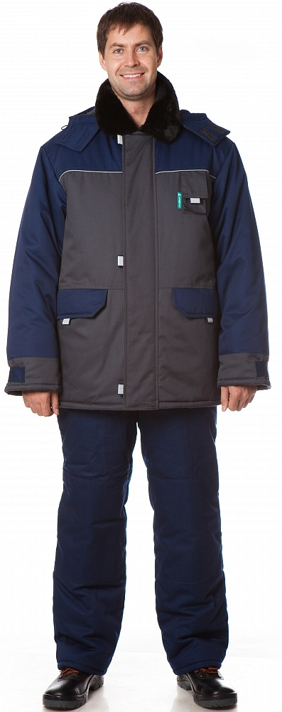 Костюм утепленный Арктика (куртка+полукомбинезон) цвет Синий-т.серый, Куртки - арт. 1108270156