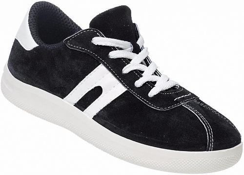 Кроссовки из спилка цвет черный, Летняя - арт. 1071190176