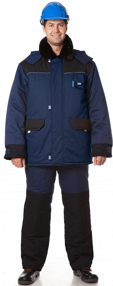 Костюм утепленный Арктика (куртка+полукомбинезон) цвет Синий-черный, Куртки - арт. 1108280156