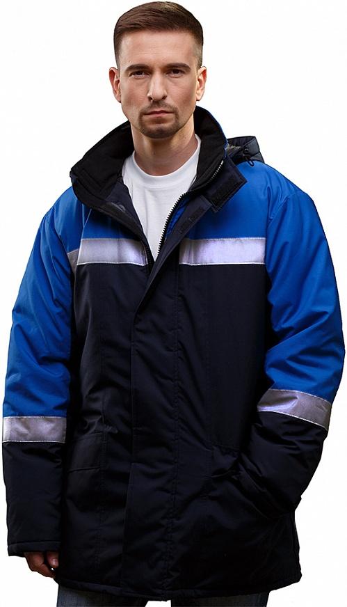 Куртка ИРТЫШ утепленная, ткань Смесовая, цвет т.син.-василек, Куртки - арт. 1071160156