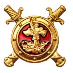 Эмблема петличная Полиции эмаль золотая металл
