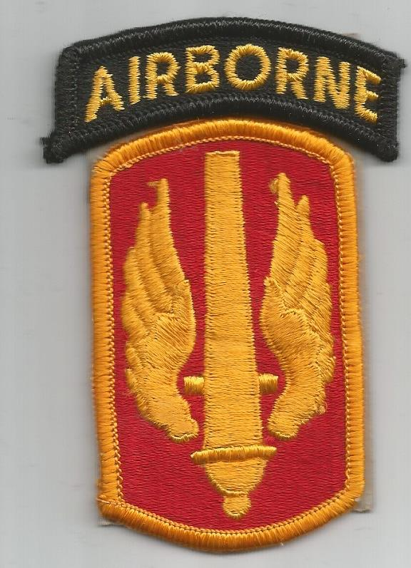 Thunder from heaven Paratrooper Airborne Div US Patch Abzeichen 17