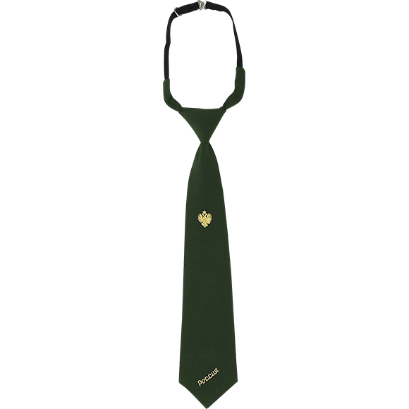 Галстук зеленый с вышивкой