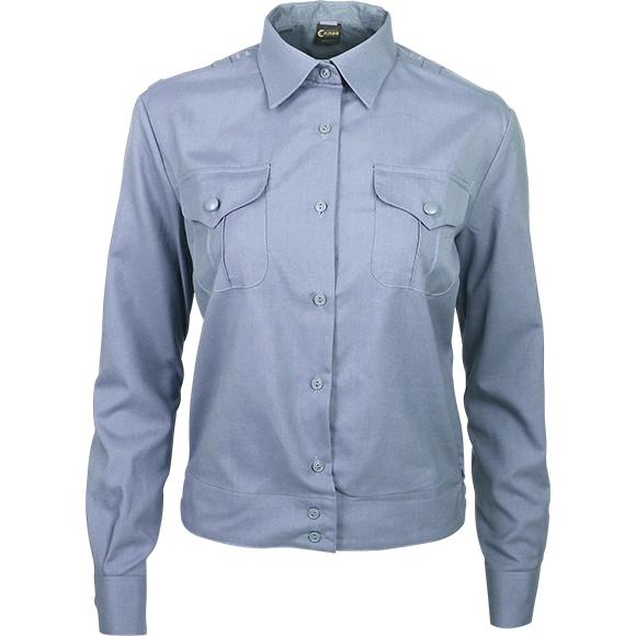 Рубашка форменная женская, длинный рукав, светло-голубая