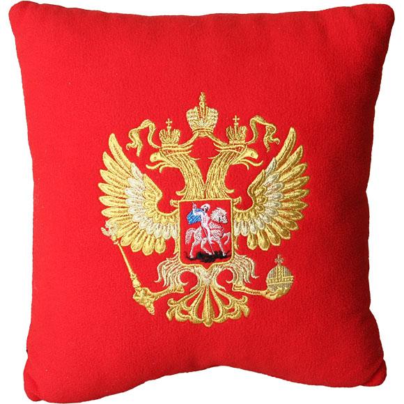 Купить Подушка сувенирная Герб РФ вышитая, Компания «Сплав»