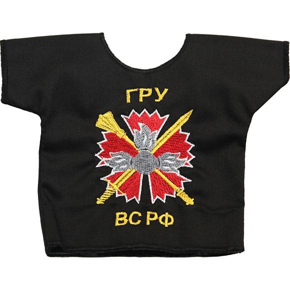 Рубашка-сувенир Россия ГРУ ВС РФ вышивка