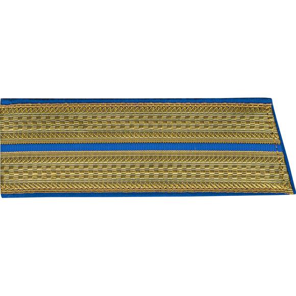 Купить Погоны со скосом ОВ 1 голубой просвет парадные люрекс, Форма одежды