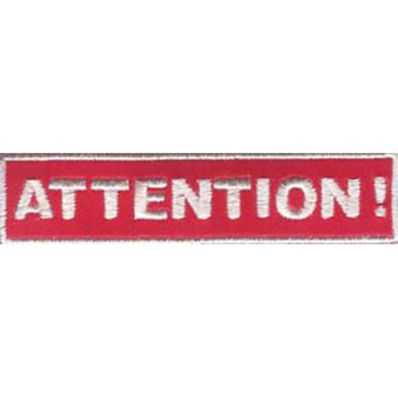 Термонаклейка -1463 Attention! Внимание! вышивка